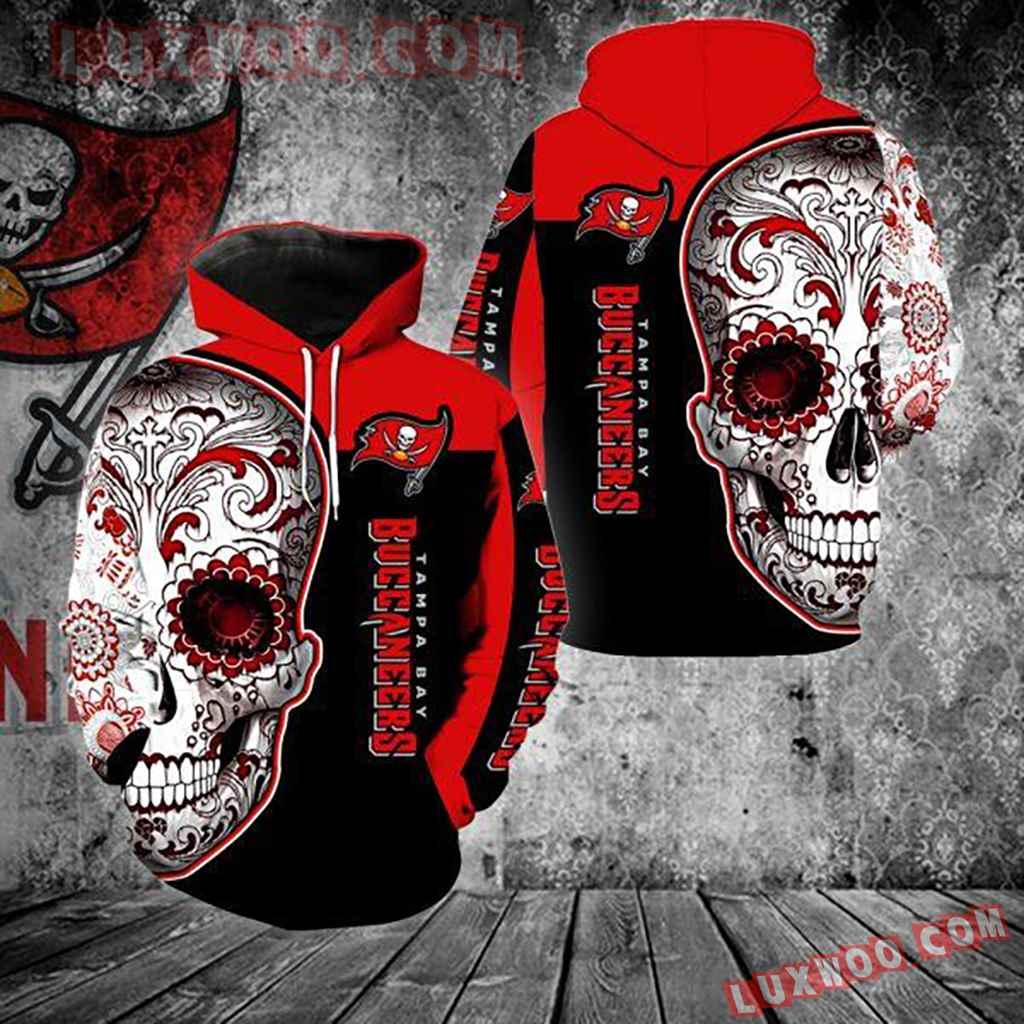 Nfl Tampa Bay Buccaneers Skull 3d Hoodie Full Over Print K1097