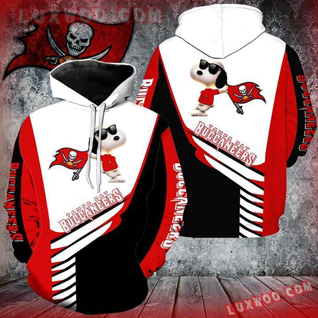Nfl Tampa Bay Buccaneers Snoopy 3d Hoodie All Over Print Hoodie For Me