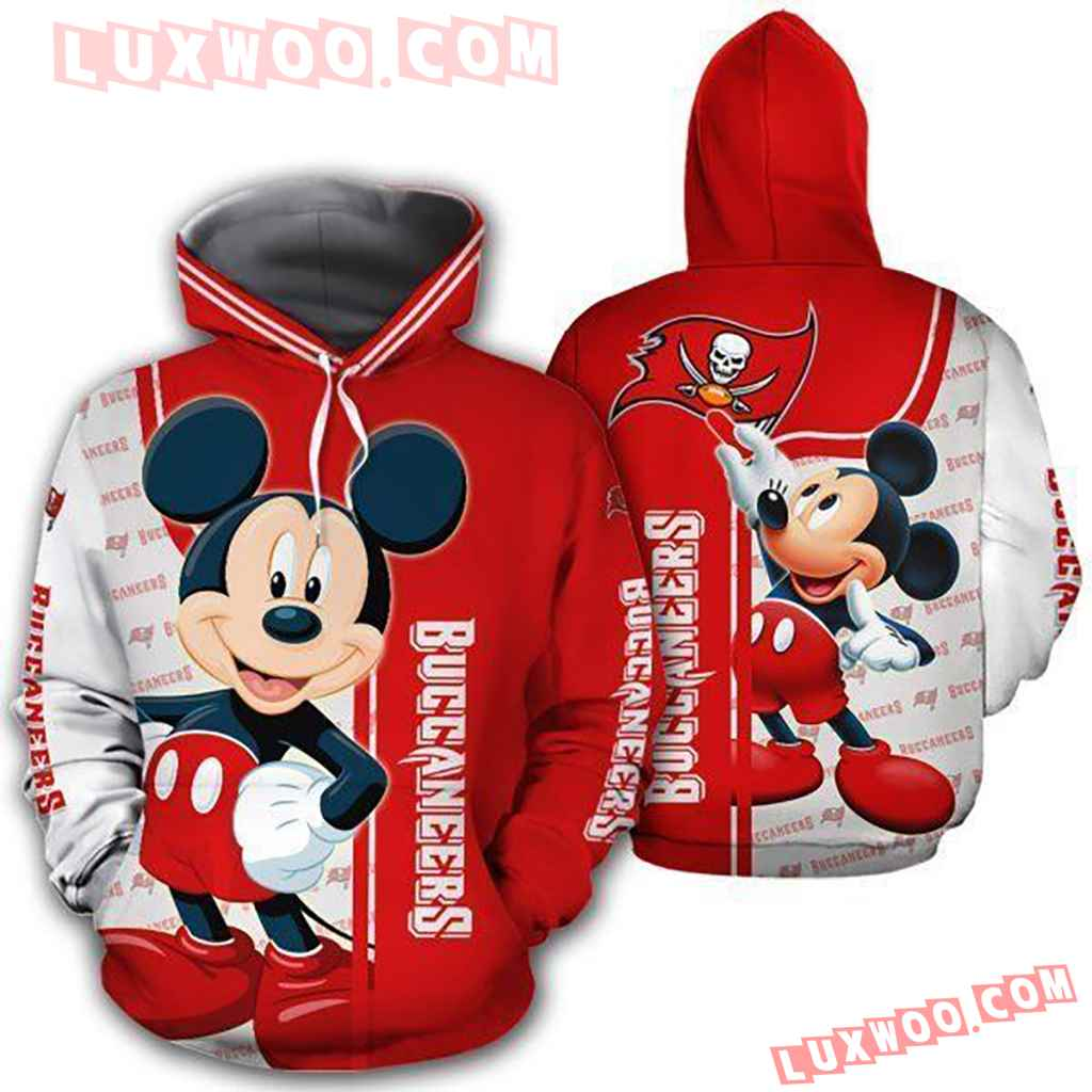 Nfl Tampa Bay Buccaneers With Mickey 3d Hoodie Tnt-00864-auh