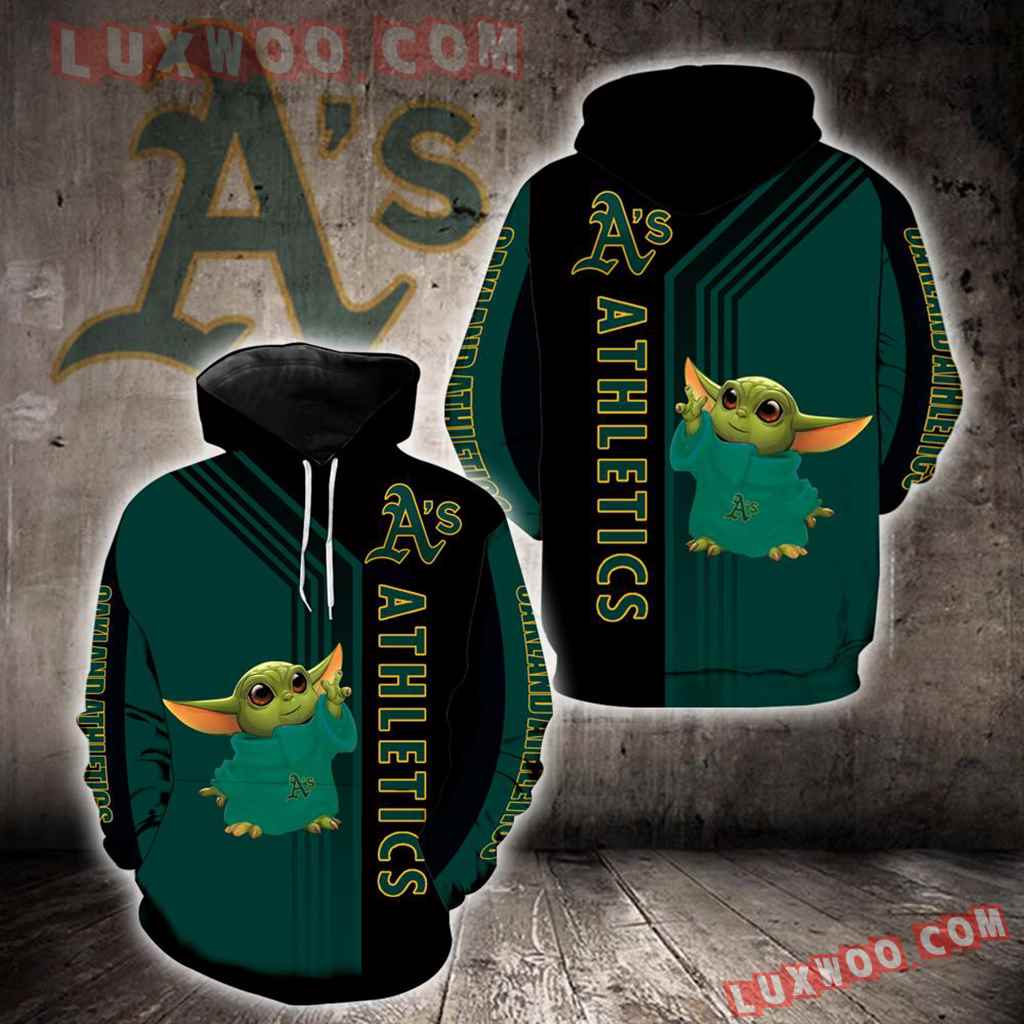 Oakland Athletics Baby Yoda Green New Full All Over Print K1294