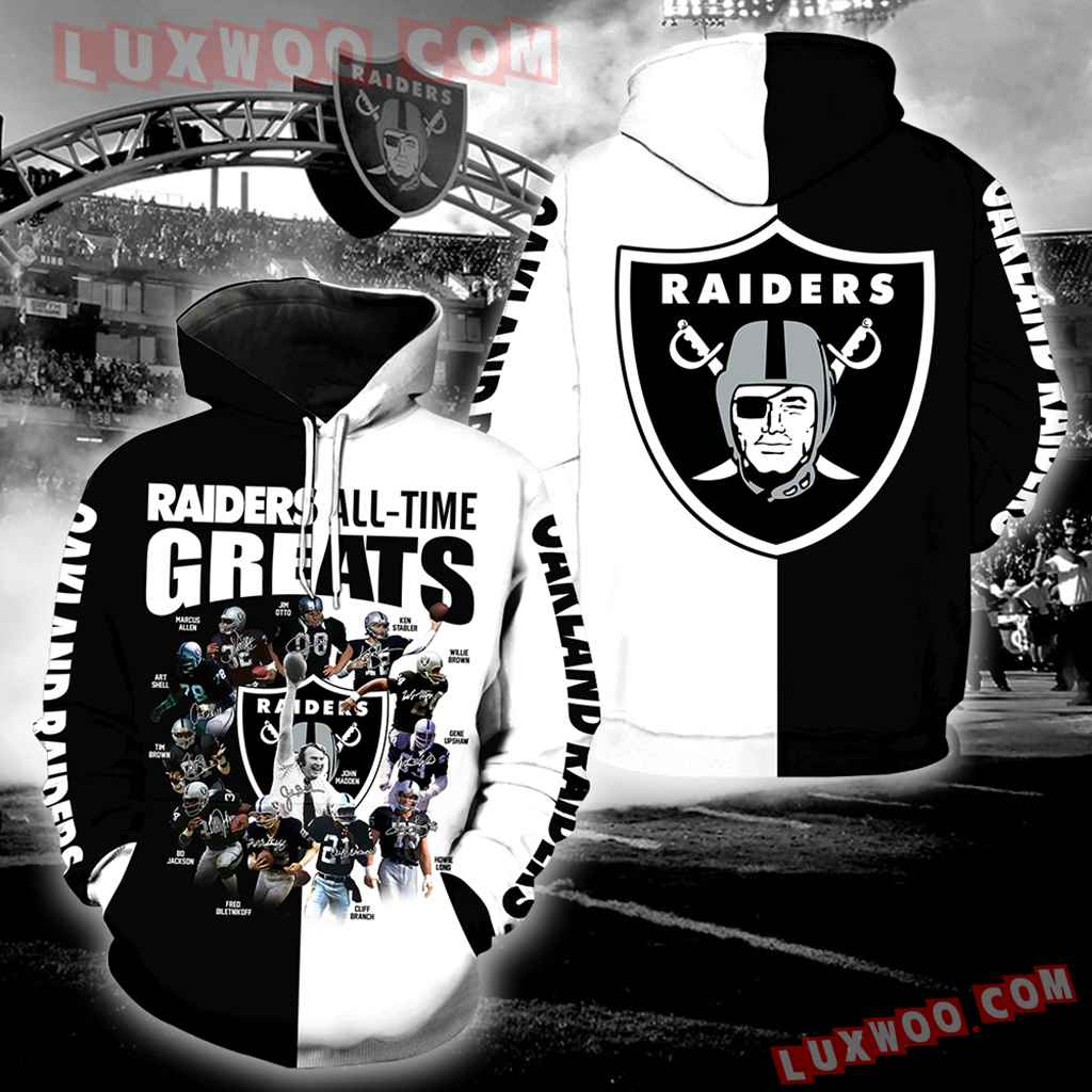 Oakland Raiders All Time Greats Full All Over Print V1412