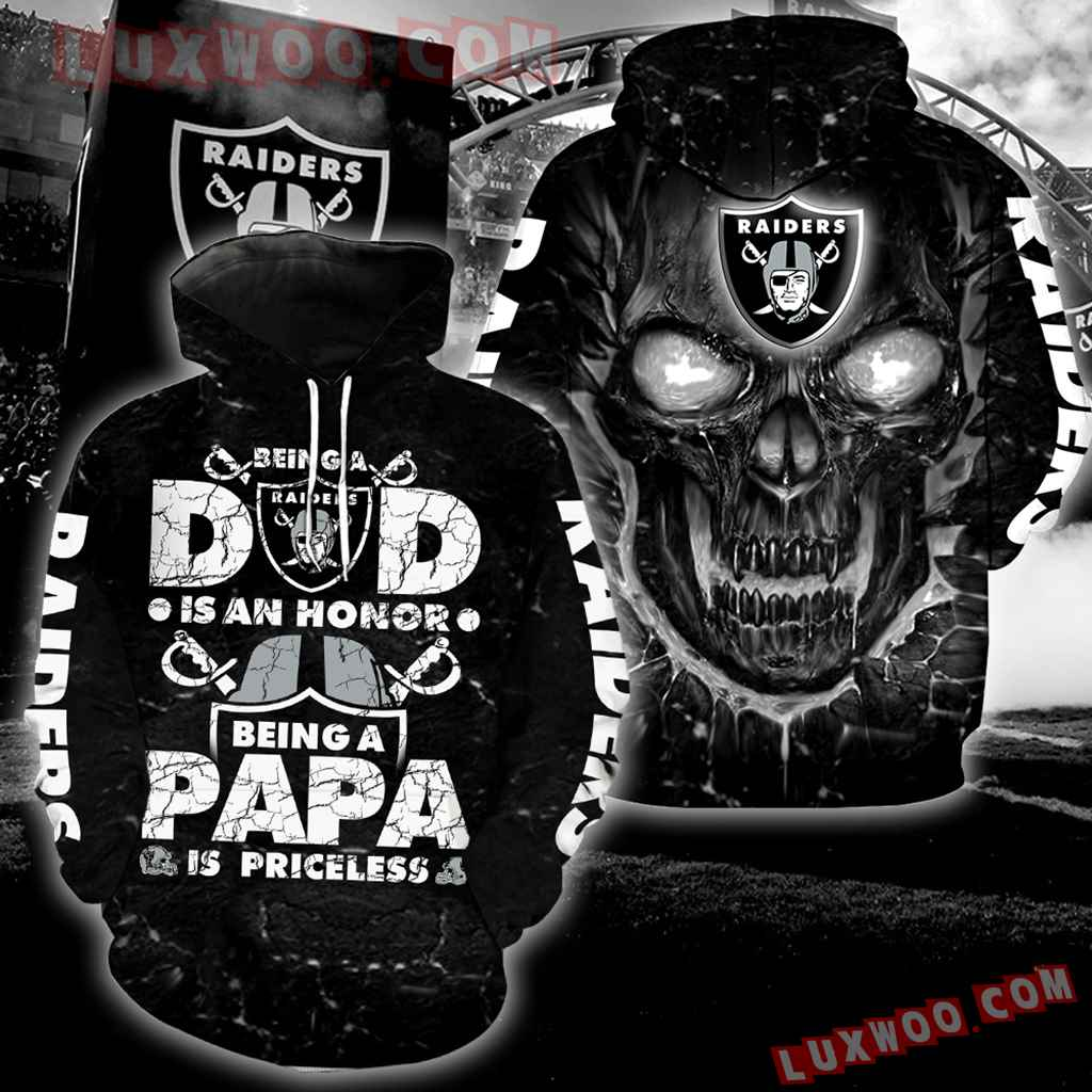 Oakland Raiders Fathers Day Black Skull New Full All Over Print S1023