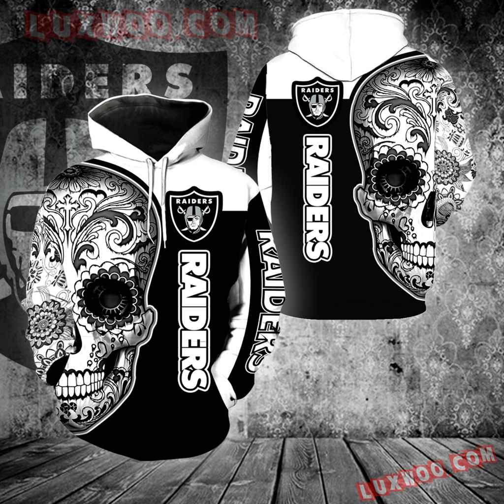 Oakland Raiders Skull Full Over Print K1037