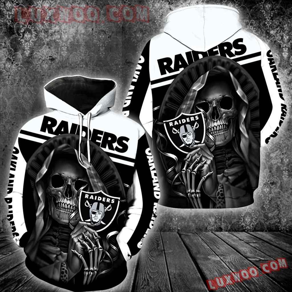 Oakland Raiders Skull New All Over Print V1212