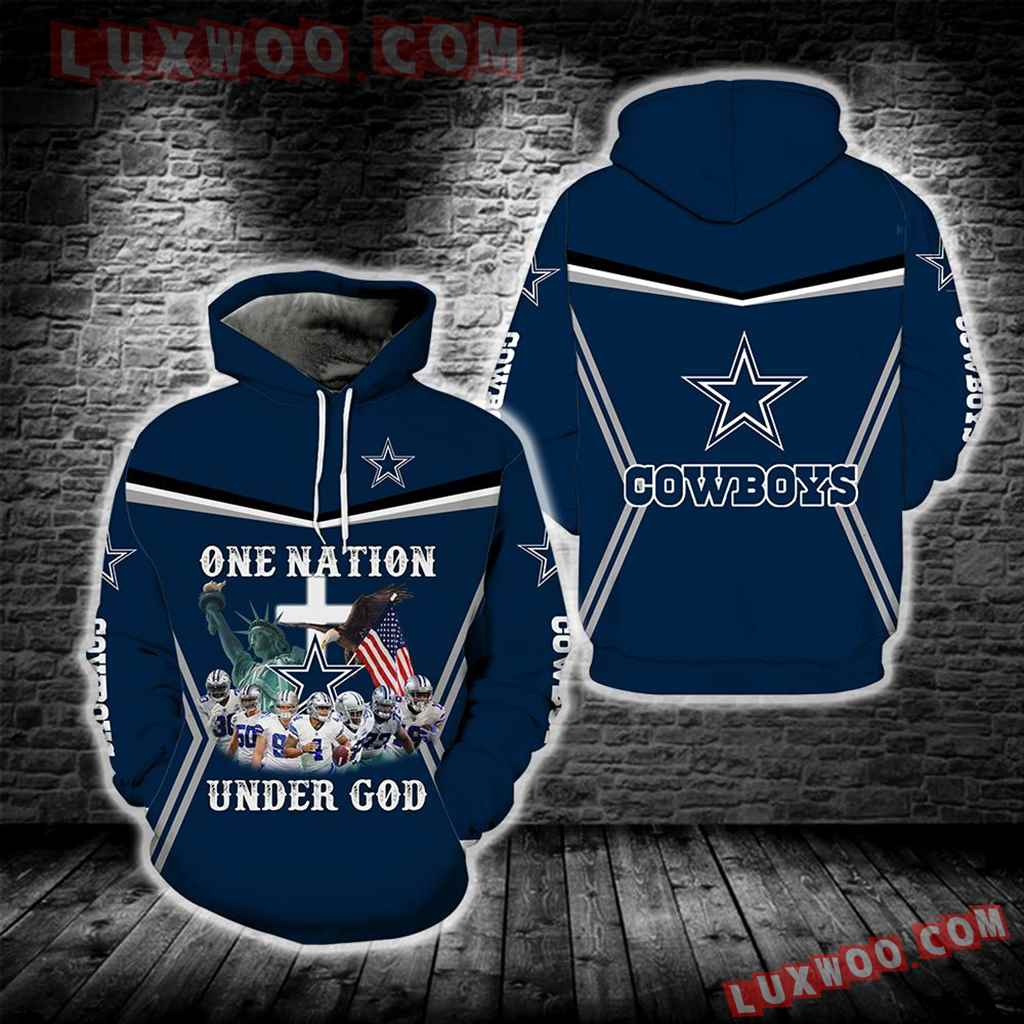 One Nation Under God Dallas Cowboys New Full All Over Print S1688