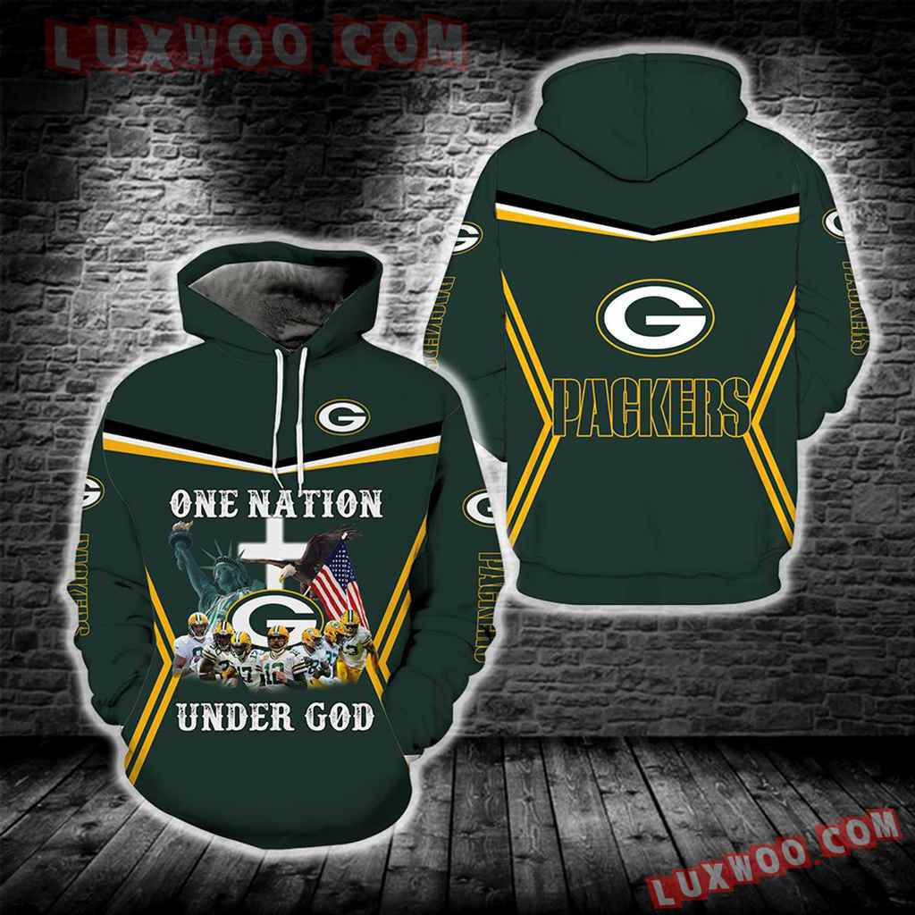 One Nation Under God Green Bay Packers New Full All Over Print S1682