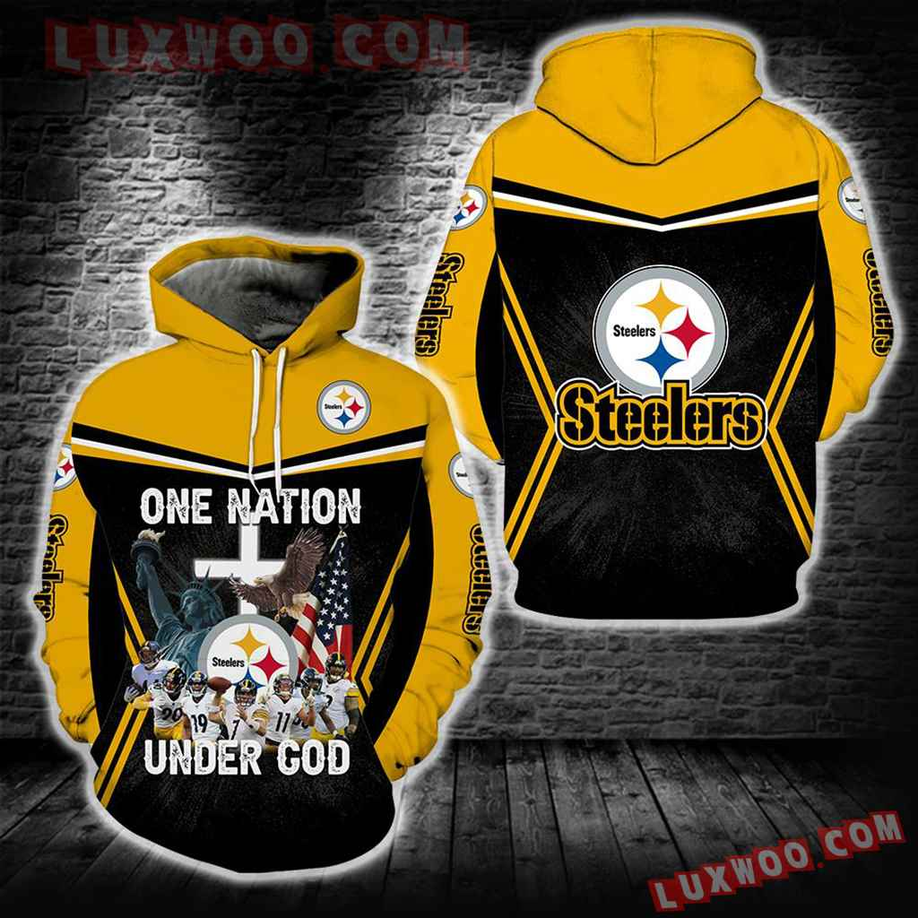 One Nation Under God Pittsburgh Steelers New Full All Over Print S1636