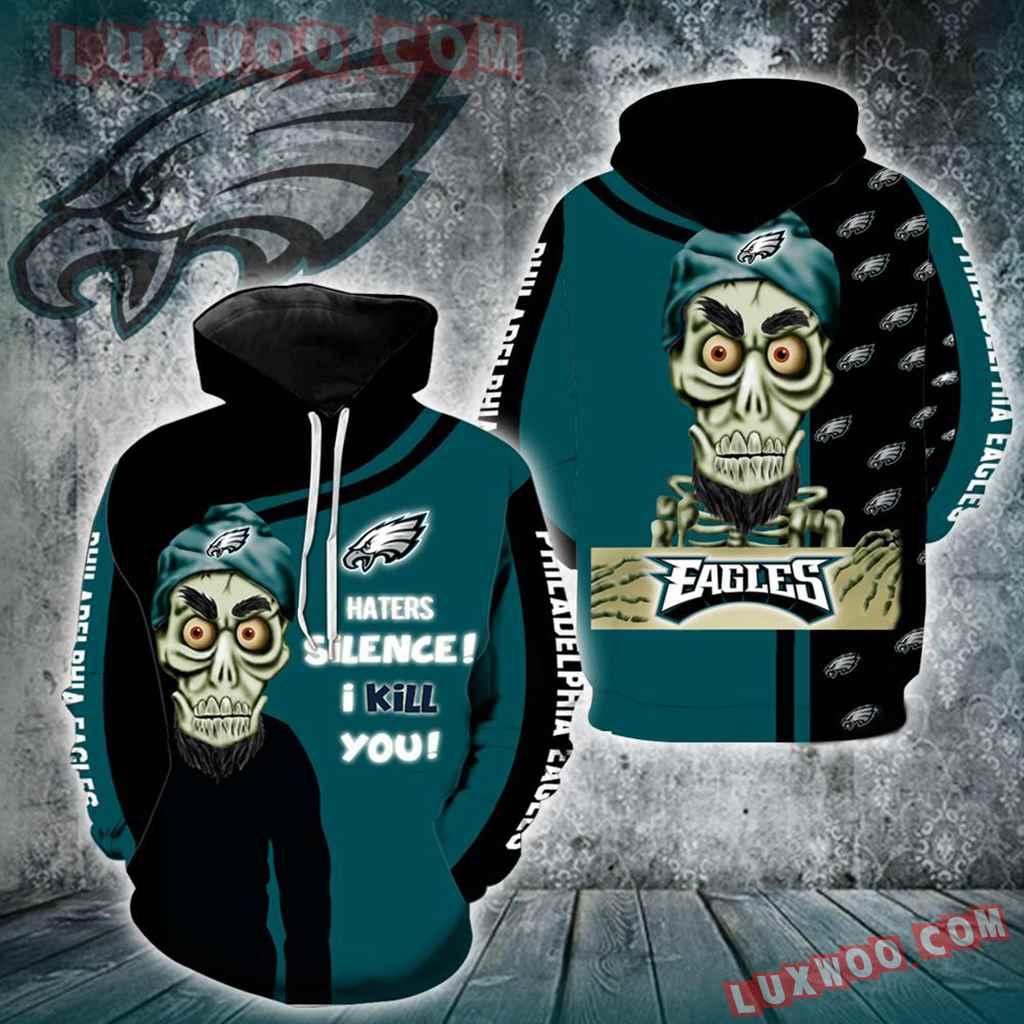 Philadelphia Eagles Achmed Skull Full All Over Print K1199