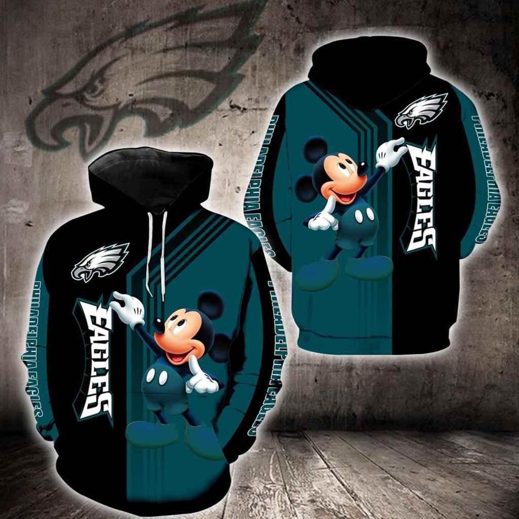 Philadelphia Eagles Mickey Mouse New Full All Over Print K1343