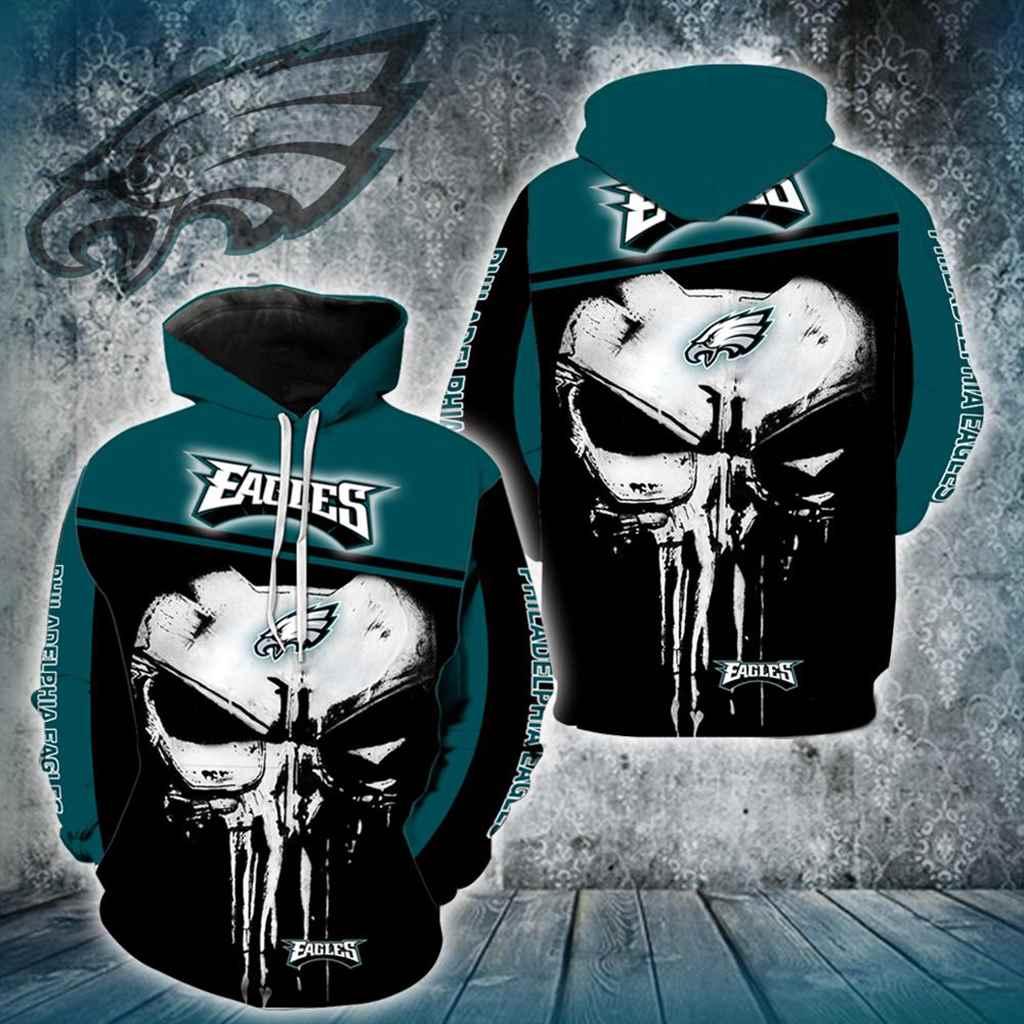 Philadelphia Eagles Punisher Skull New Full All Over Print V1447