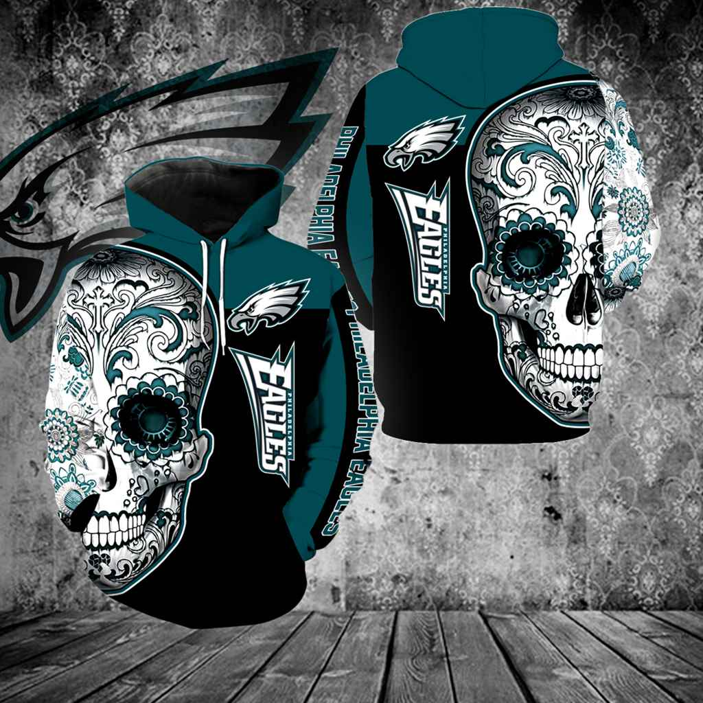 Philadelphia Eagles Skull Full Over Print K1094