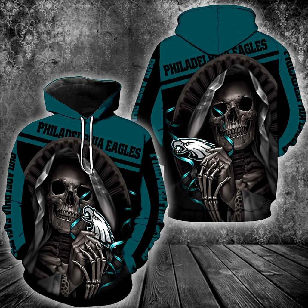 Philadelphia Eagles Skull New All Over Print V1227