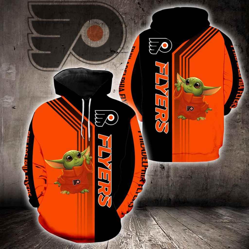 Philadelphia Flyers Baby Yoda New Full All Over Print V1560