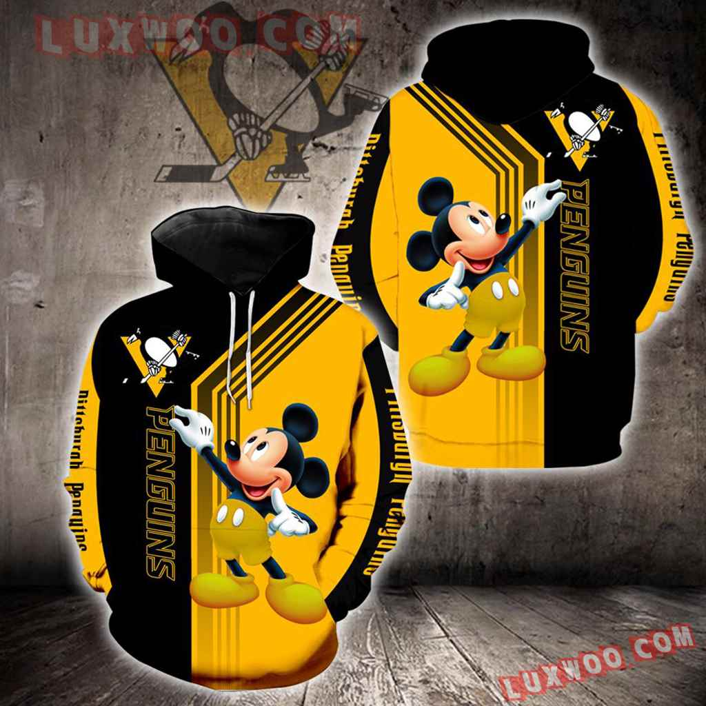 Pittsburgh Penguins Mickey Mouse New Full All Over Print V1526