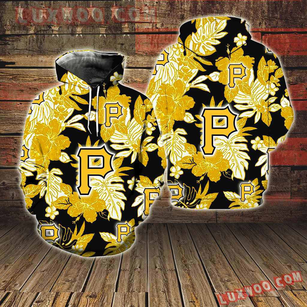 Pittsburgh Pirates Hawaiian Tropical Flower New Full All Over Print V1582