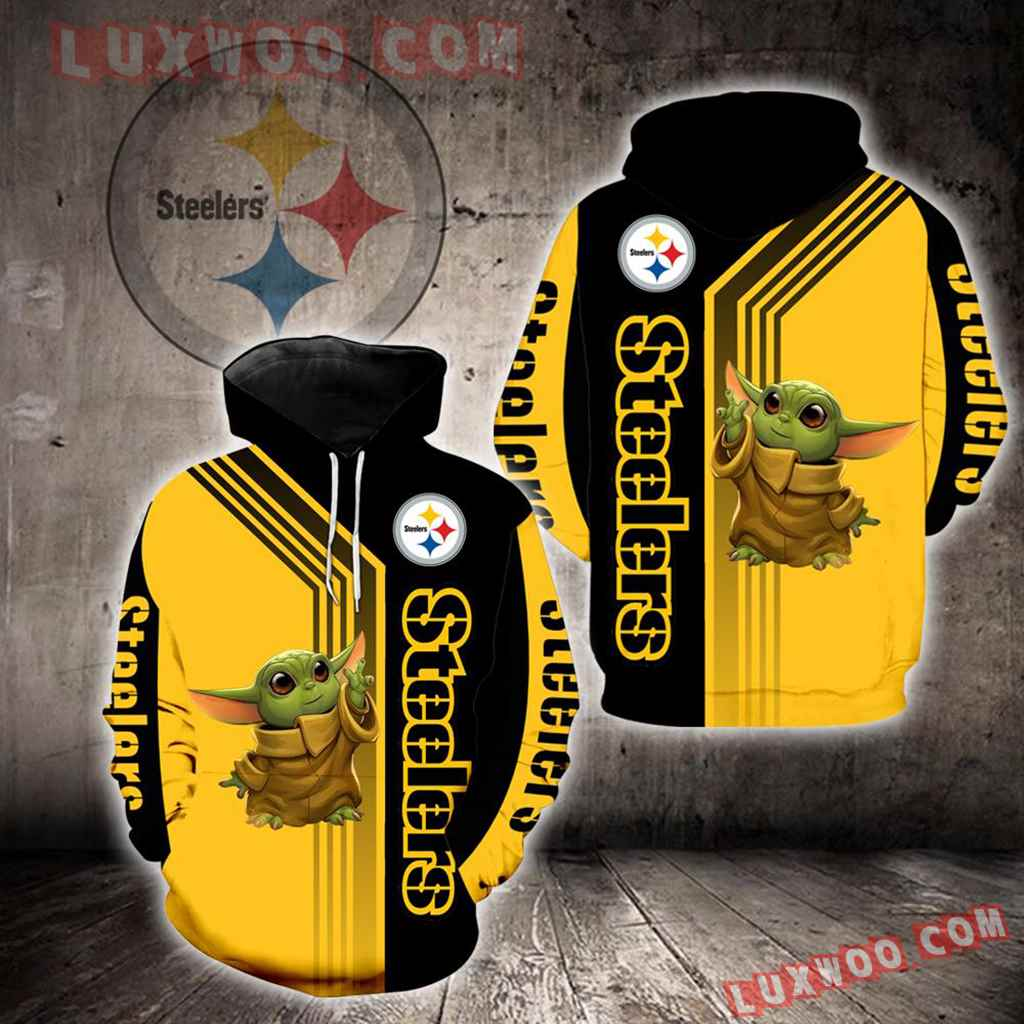 Pittsburgh Steelers Baby Yoda New Full All Over Print V1480