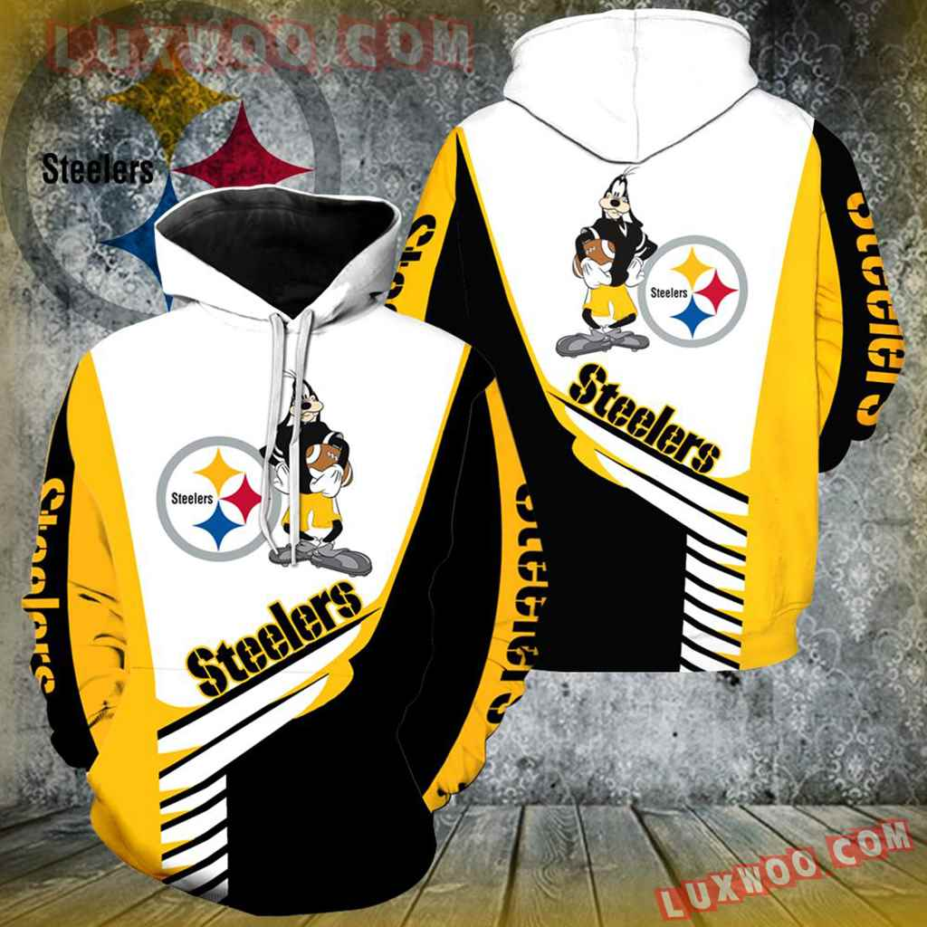Pittsburgh Steelers Goofy New All Over Print K1023