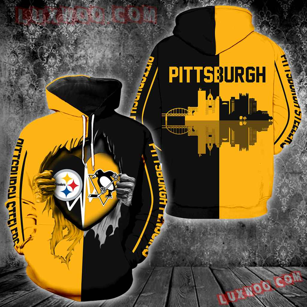 Pittsburgh Steelers Pittsburgh Penguins All Over Print V1174