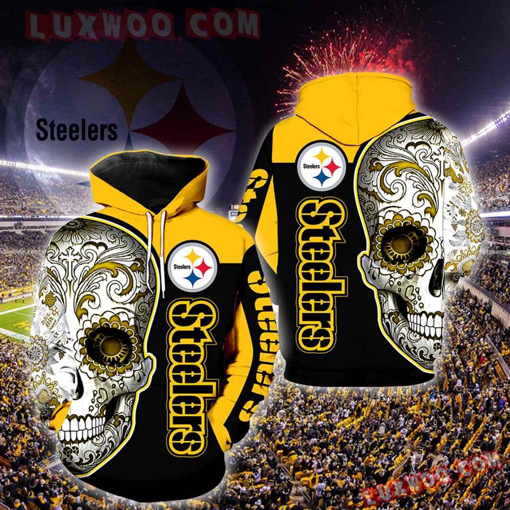 Pittsburgh Steelers Skull Full Over Print K1035