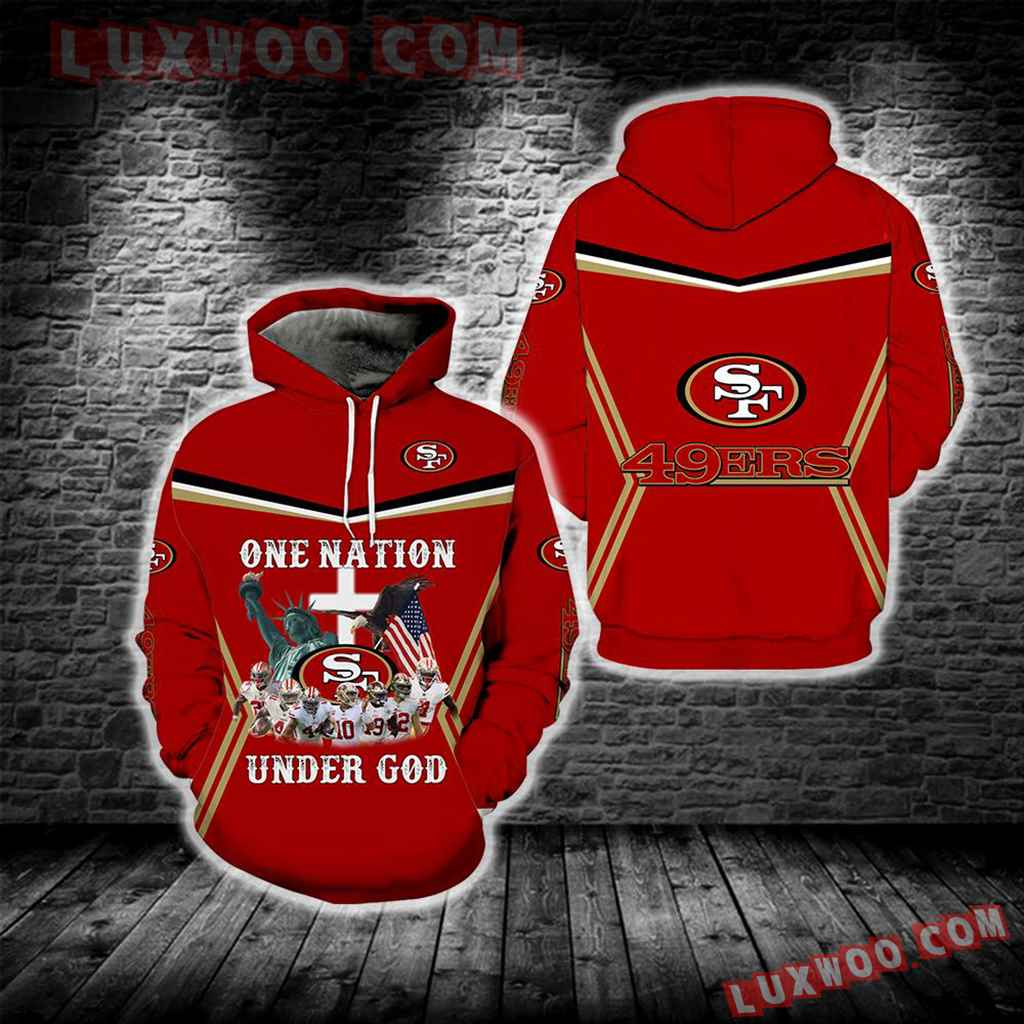 San Francisco 49ers One Nation Under God New Full All Over Print S1689