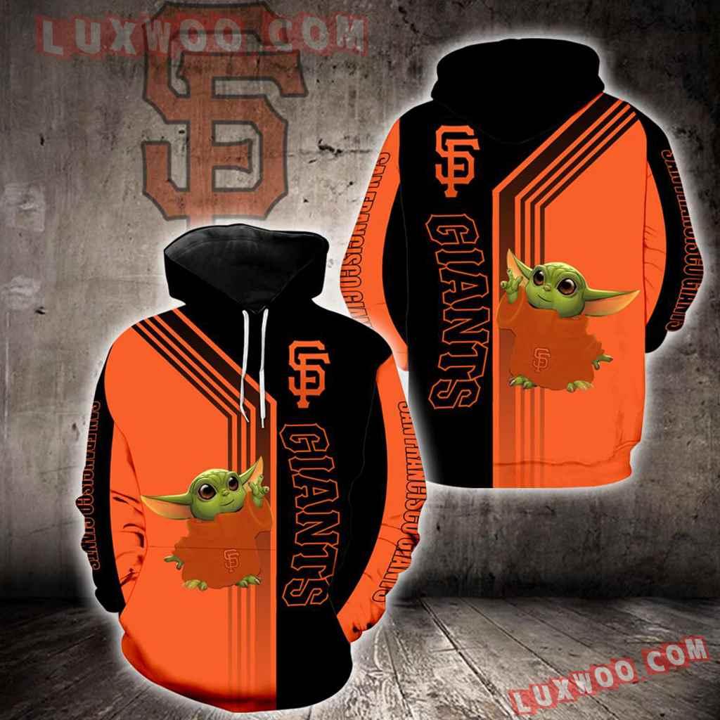 San Francisco Giants Baby Yoda Green New Full All Over Print K1312