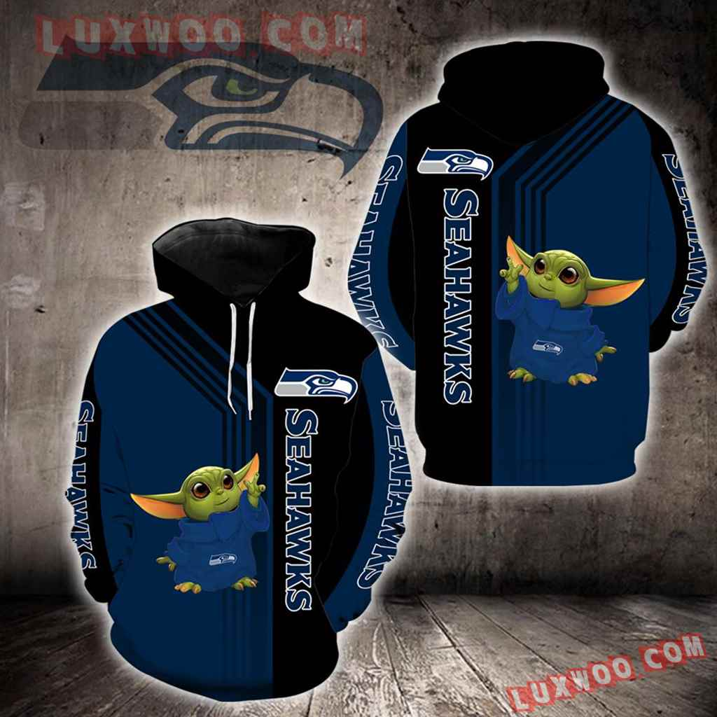 Seattle Seahawks Baby Yoda Green New Full All Over Print K1272