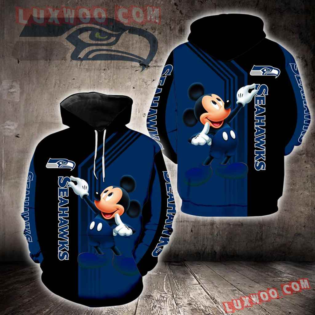 Seattle Seahawks Mickey Mouse New Full All Over Print K1345