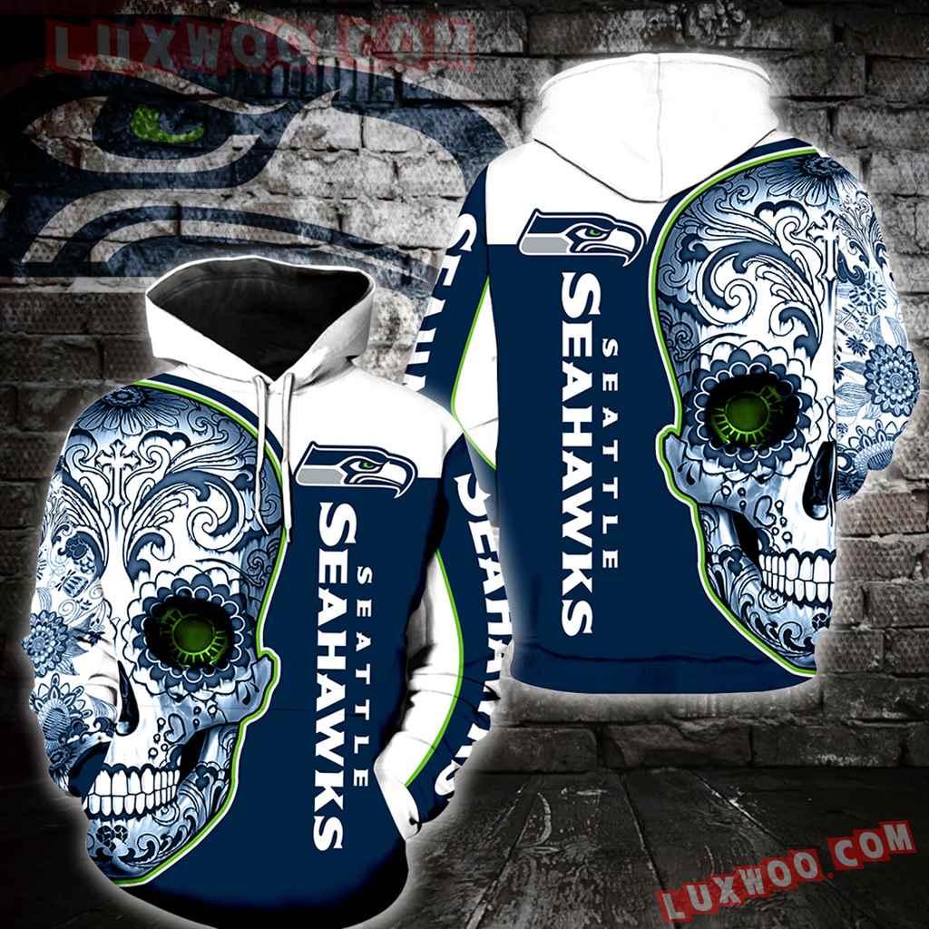Seattle Seahawks Skull New Full Over Print K1043