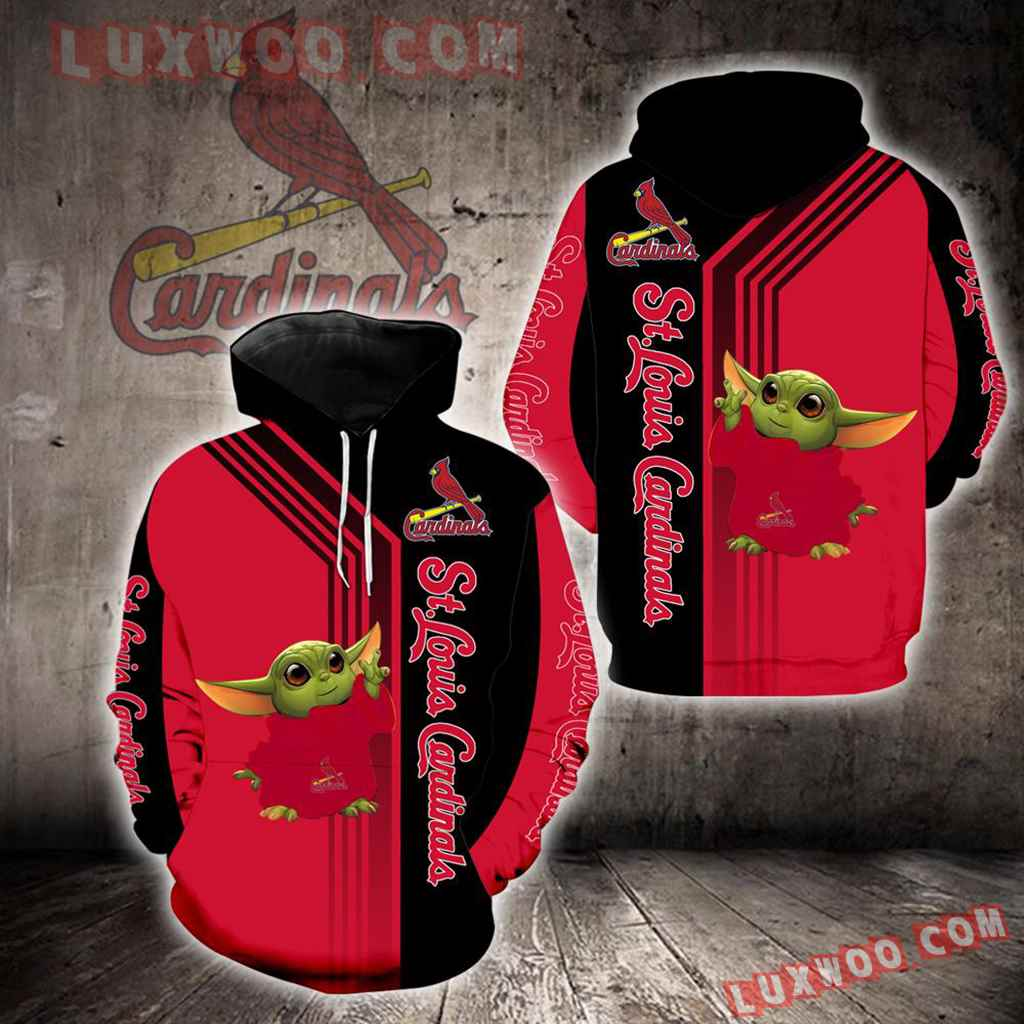 St Louis Cardinals Baby Yoda Green New Full All Over Print K1310