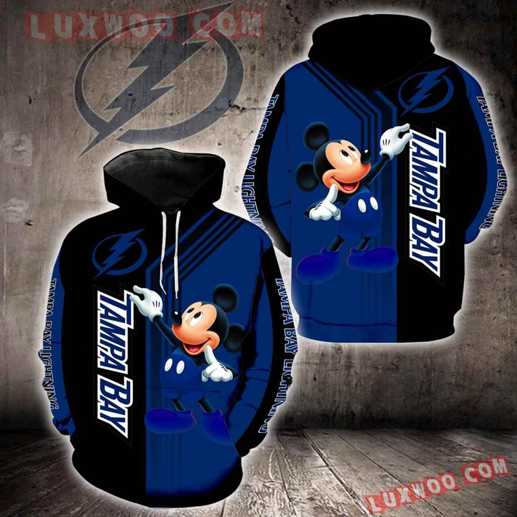 Tampa Bay Lightning Mickey Mouse New Full All Over Print V1529