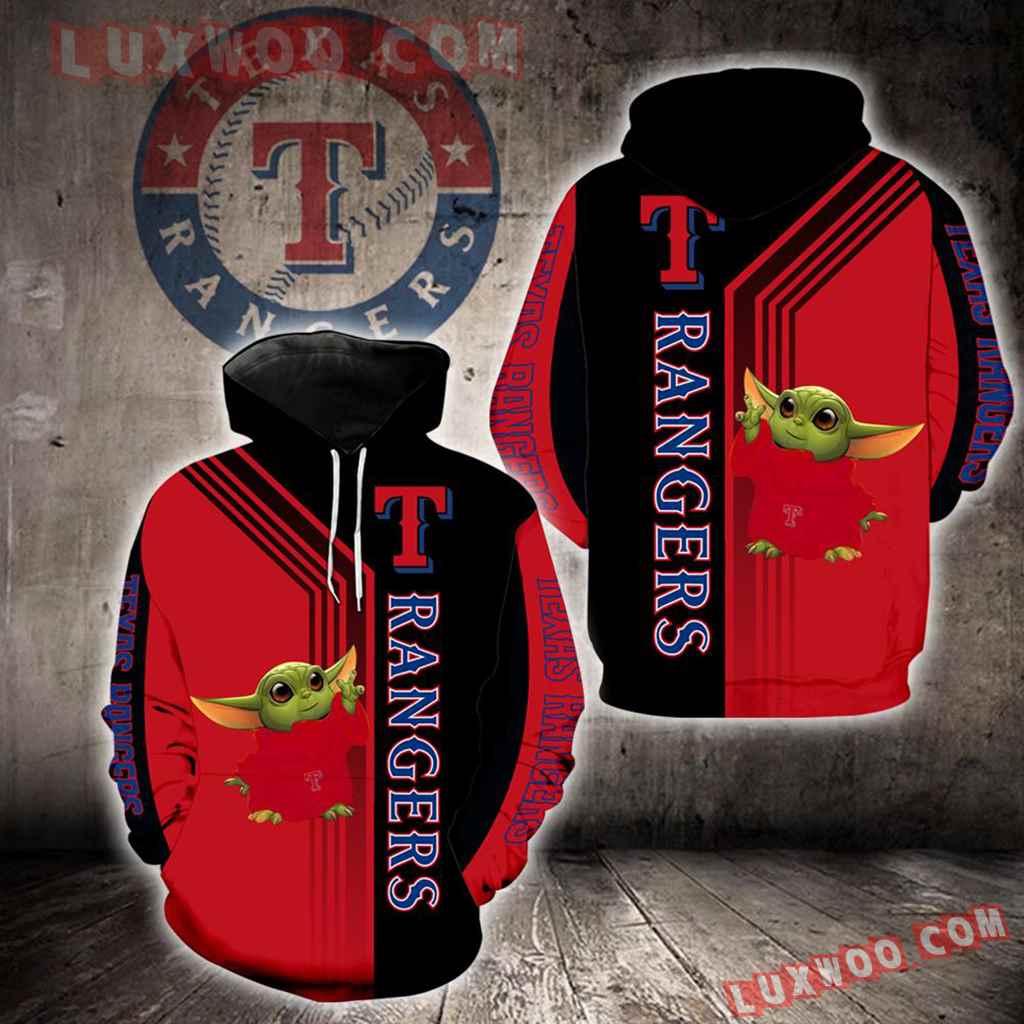 Texas Rangers Baby Yoda Green New Full All Over Print K1297