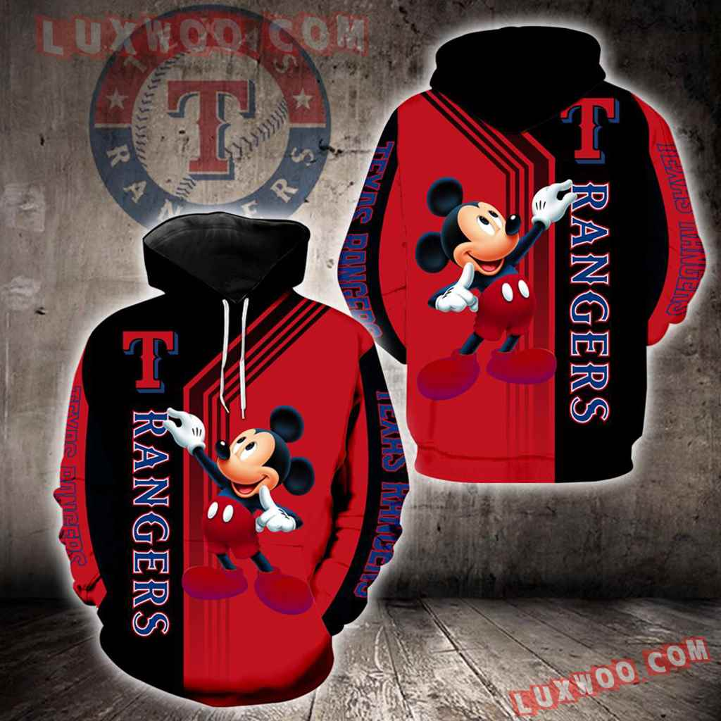 Texas Rangers Mickey Mouse New Full All Over Print K1370