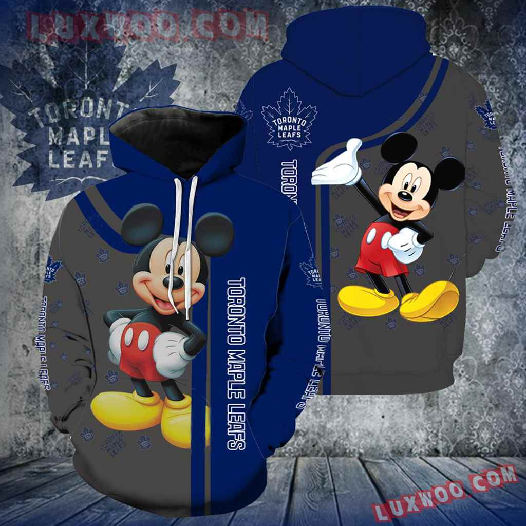 Toronto Maple Leafs Mickey Mouse All Over Print V1306