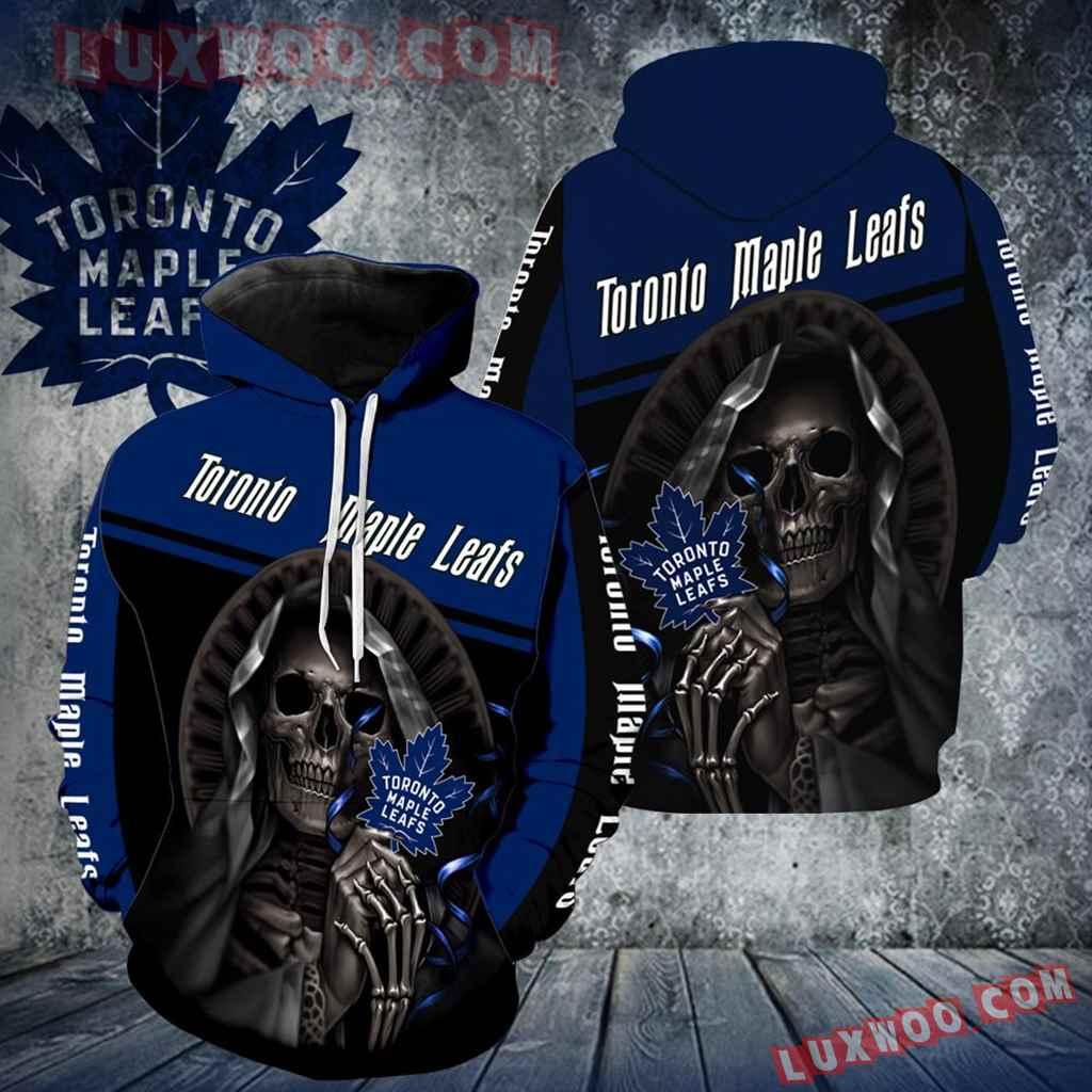 Toronto Maple Leafs Skull New All Over Print V1236