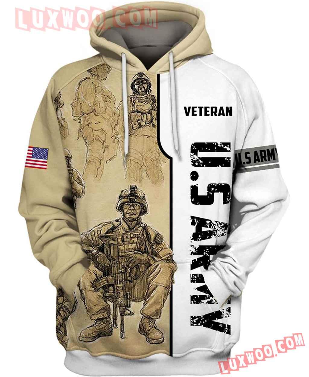 Us Army Veteran New Full All Over Print K3233