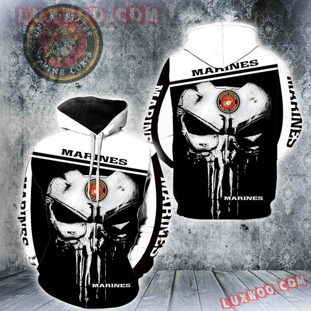 Us Marine Corps Punisher New Skull Full All Over Print K1220