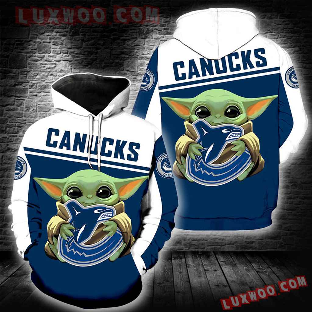 Vancouver Canucks Baby Yoda New Full All Over Print K1366