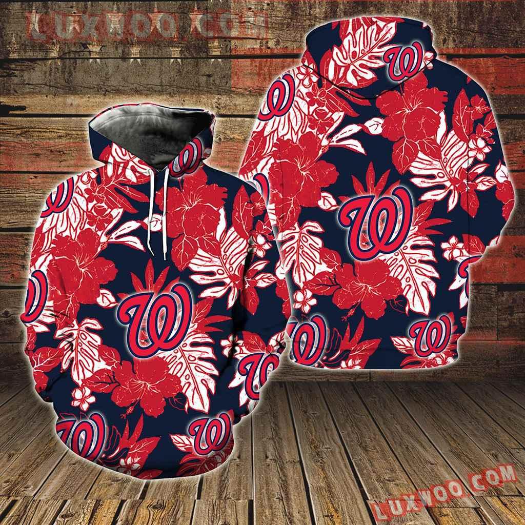 Washington Nationals Hawaiian Tropical Flower New Full All Over Print V1580