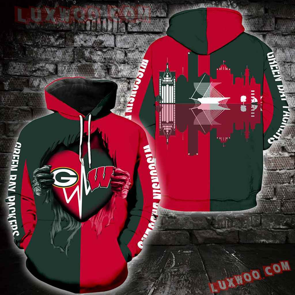 Wisconsin Badgers Green Bay Packers Full Over Print V1312