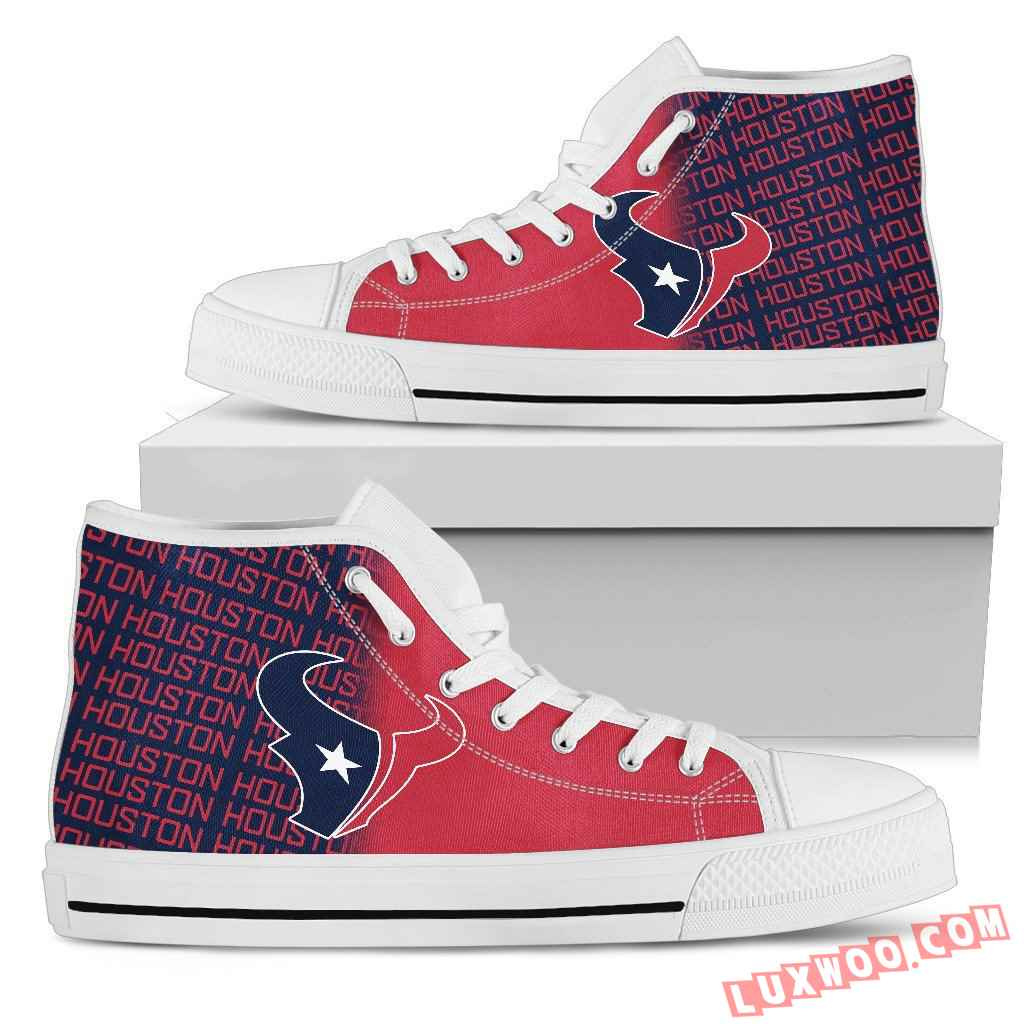 Nfl Houston Texans High Top Shoes