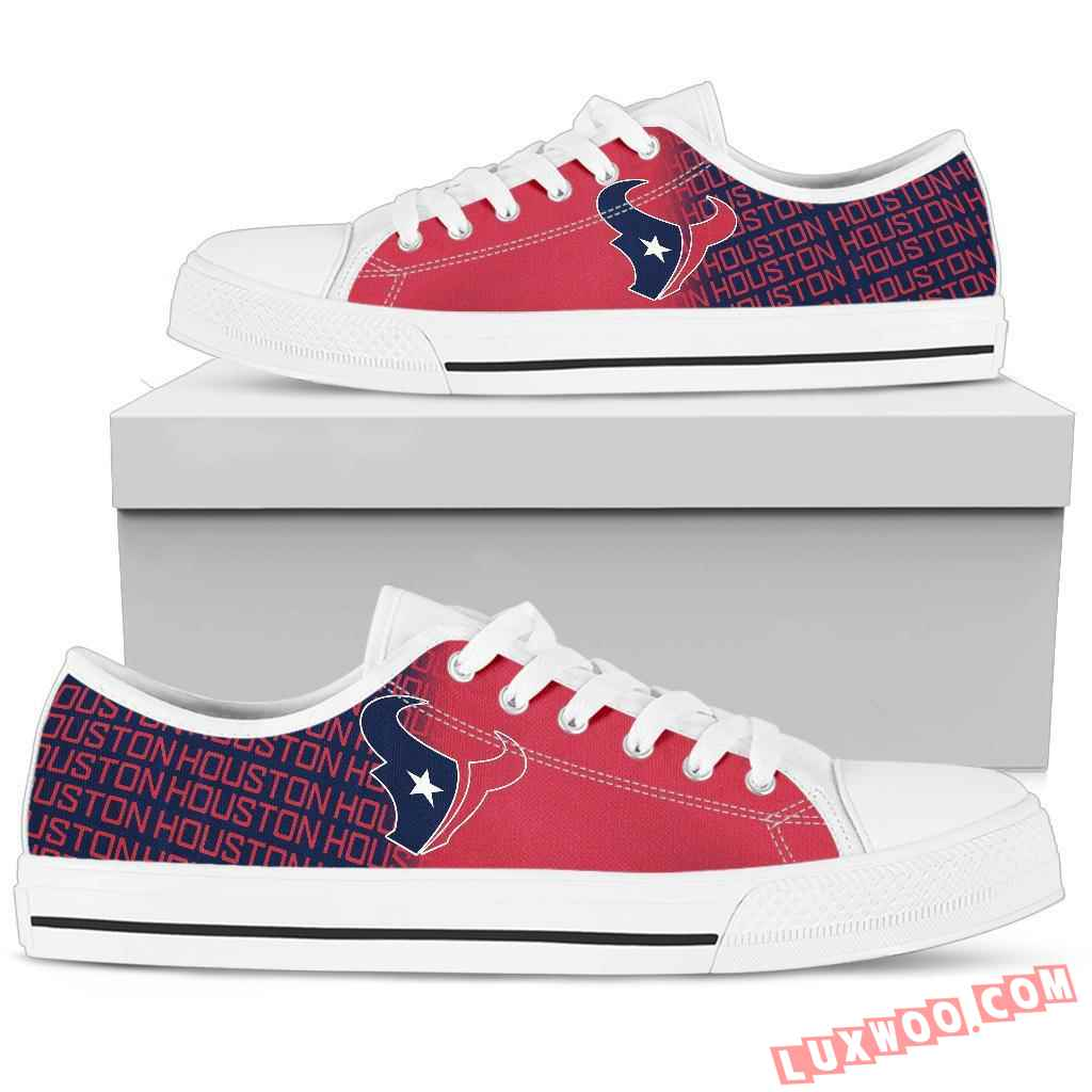 Nfl Houston Texans Low Top Shoes