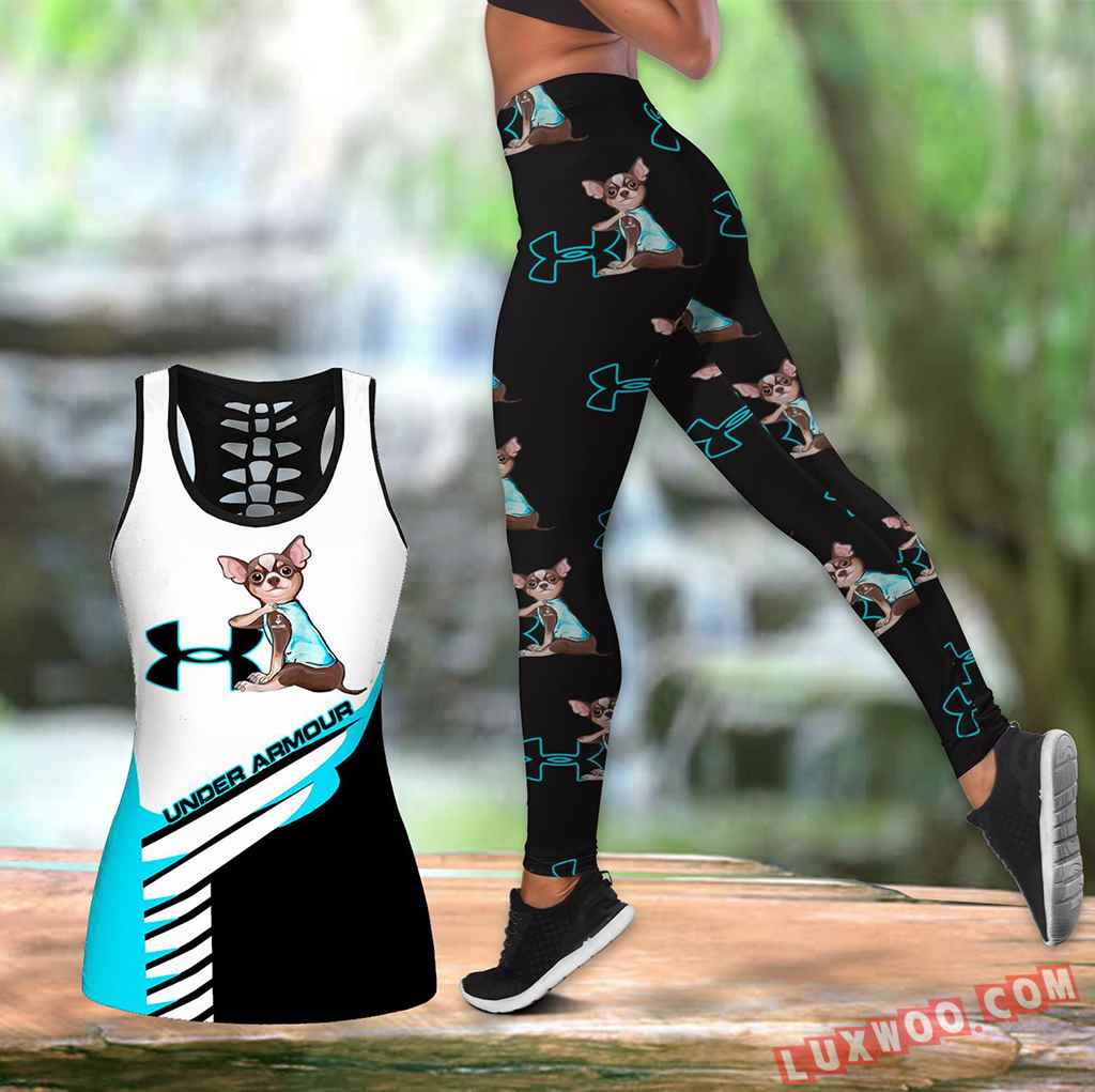 Combo Chihuahua Under Armour Hollow Tanktop Legging Set Outfit K1612