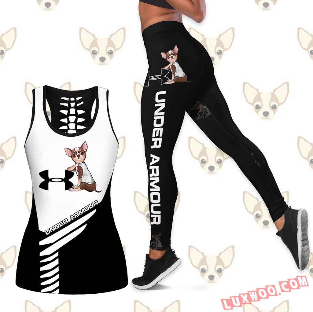 Combo Chihuahua Under Armour Hollow Tanktop Legging Set Outfit K1638