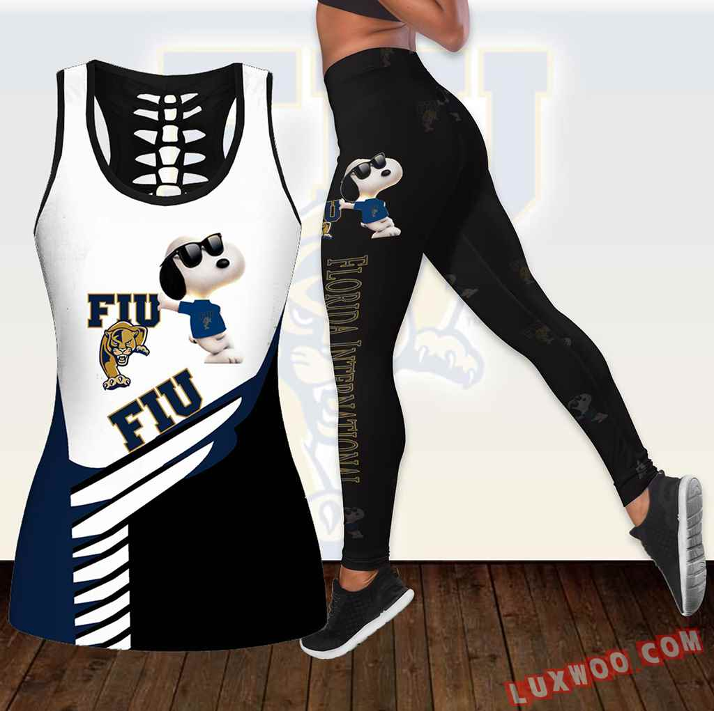 Combo Fiu Panthers Snoopy Hollow Tanktop Legging Set Outfit K1830
