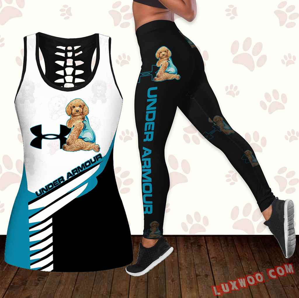 Combo Labradoodle Under Armour Hollow Tanktop Legging Set Outfit K1648