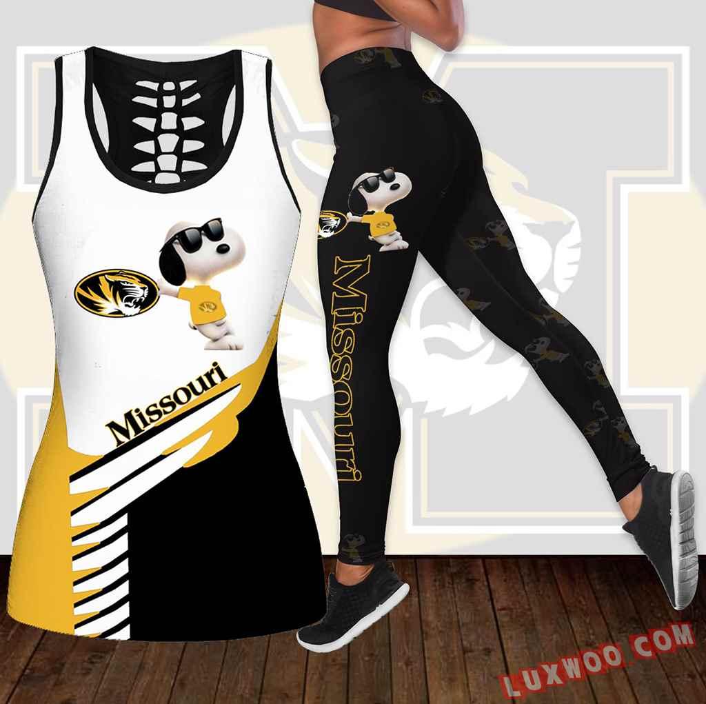 Combo Missouri Tigers Snoopy Hollow Tanktop Legging Set Outfit K1873