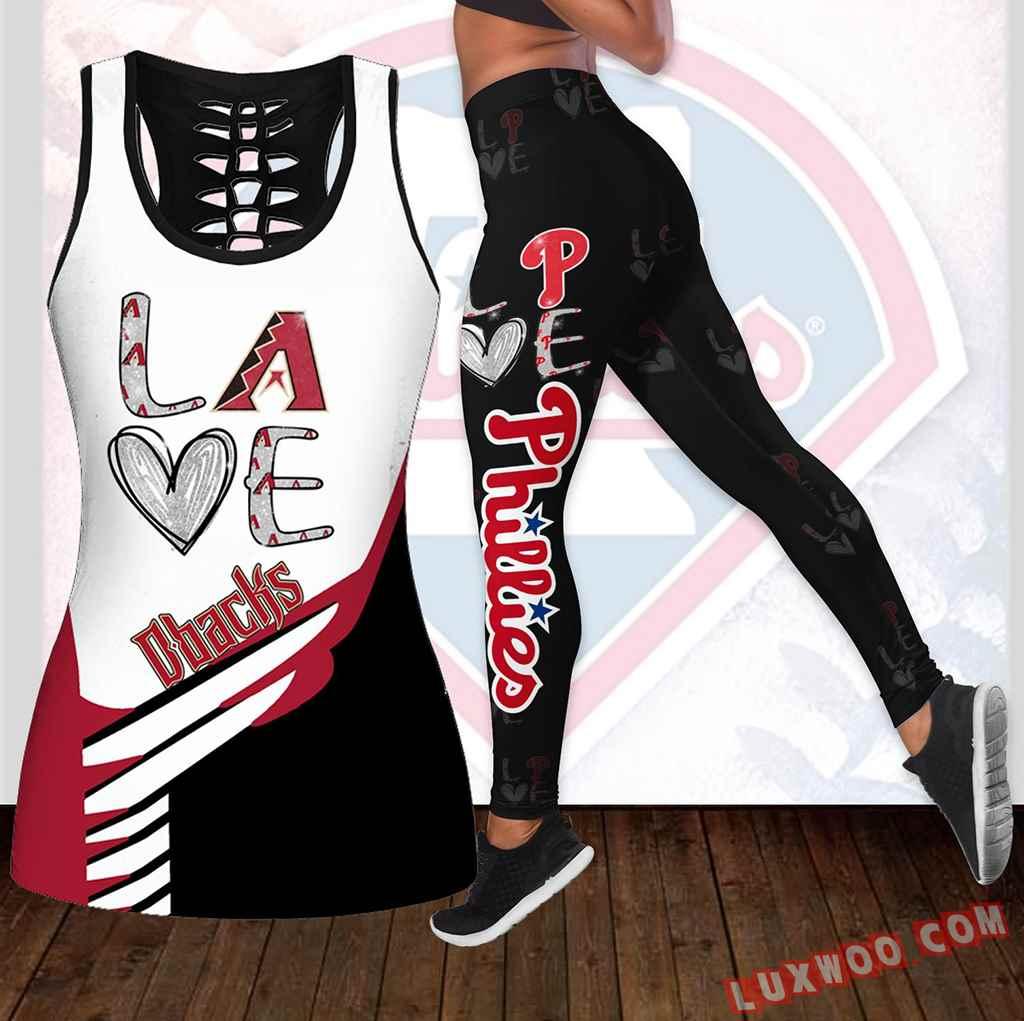 Combo Philadelphia Phillies Love Hollow Tanktop Legging Set Outfit K1893