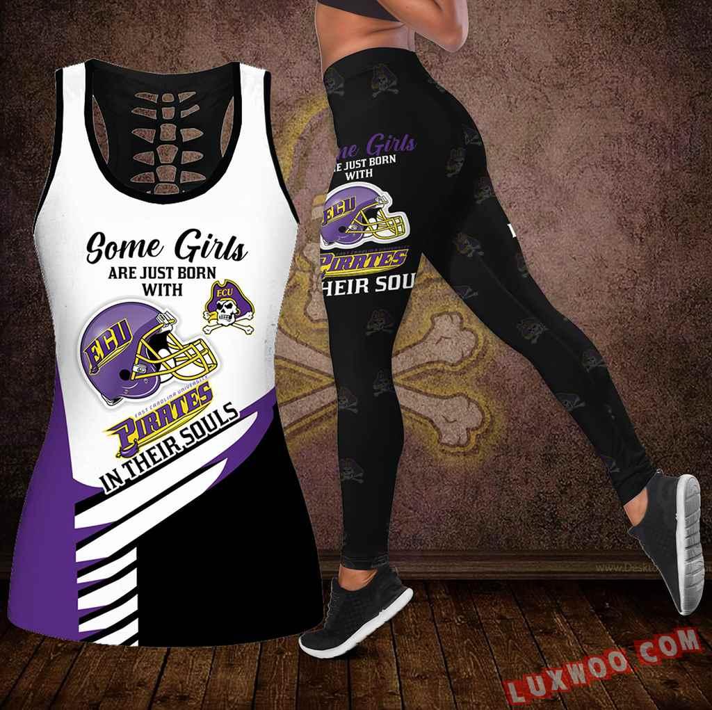 Combo Some Girls East Carolina Pirates Hollow Tanktop Legging Set Outfit S1010