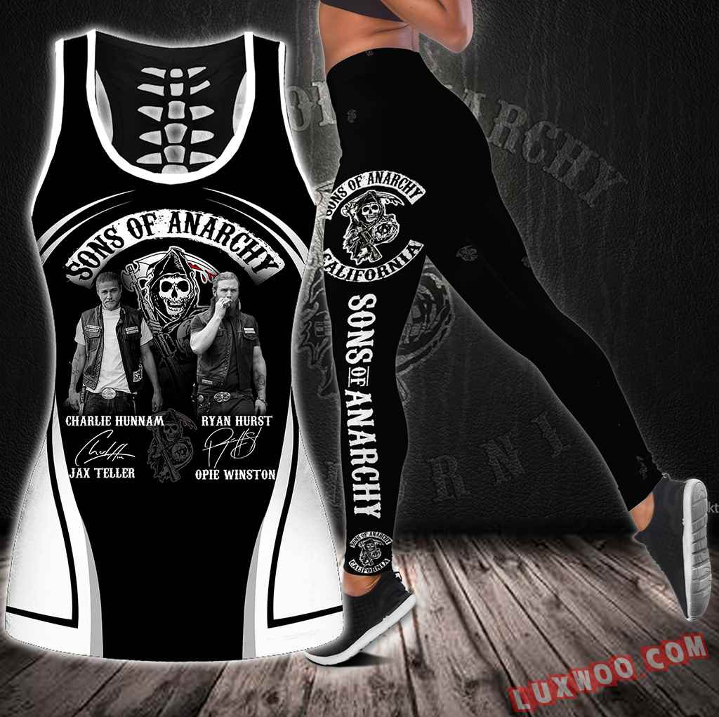 Combo Sons Of Anarchy Hollow Tanktop Legging Set Outfit S1303
