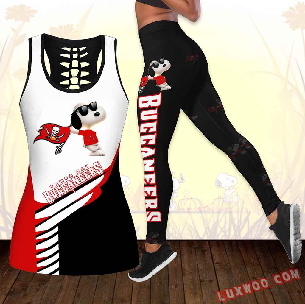 Combo Tampa Bay Buccaneers Snoopy Hollow Tanktop Legging Set Outfit K1734